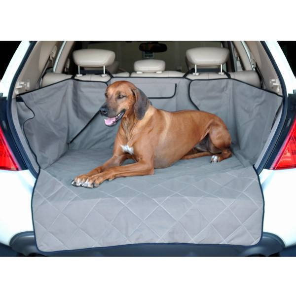 Large dog on the K&H Quilted Cargo Cover™ Dog Car Seat Cargo Cover