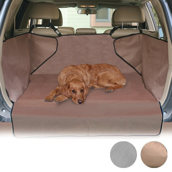 large dog on the economy car cover