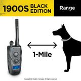 Range of the black dogtra 1900s system between the collar and the remote control