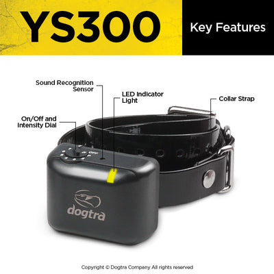 Dogtra YS300 No Bark Collar- small-medium dog