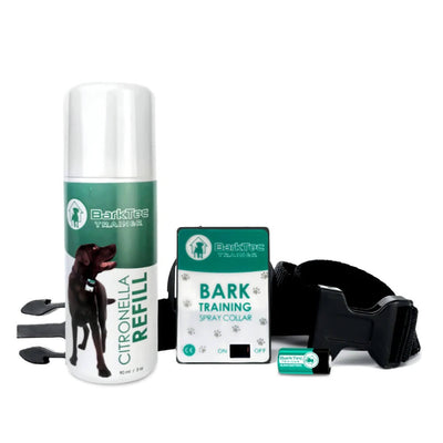 Barktec BT-100 Bark Control Kit- Citronella Spray Collar With Refill