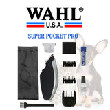 WAHL Super Pocket Pro™ Cordless Pet Dog Trimmer With T-Blade