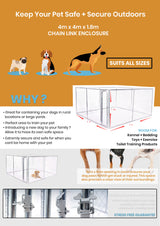 4mx4mx1.8m Large Pet Dog Enclosure Fencing