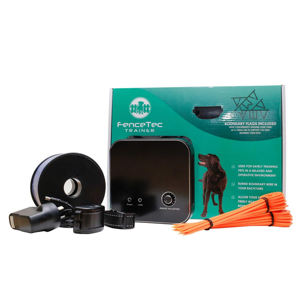 eDog Australia - Dog Training Fence - ADVANCED HIDDEN FENCE DOG TRAINING SYSTEM - RECHARGEABLE - What's In The Box
