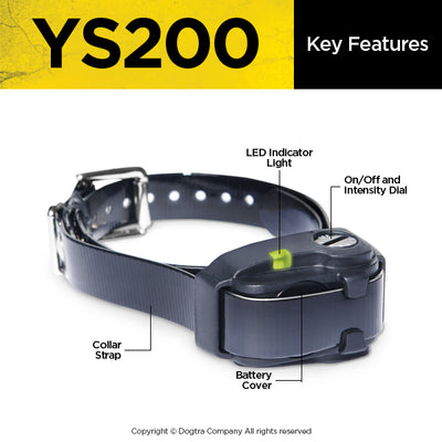 key features of the dogtra ys200 anti bark collar