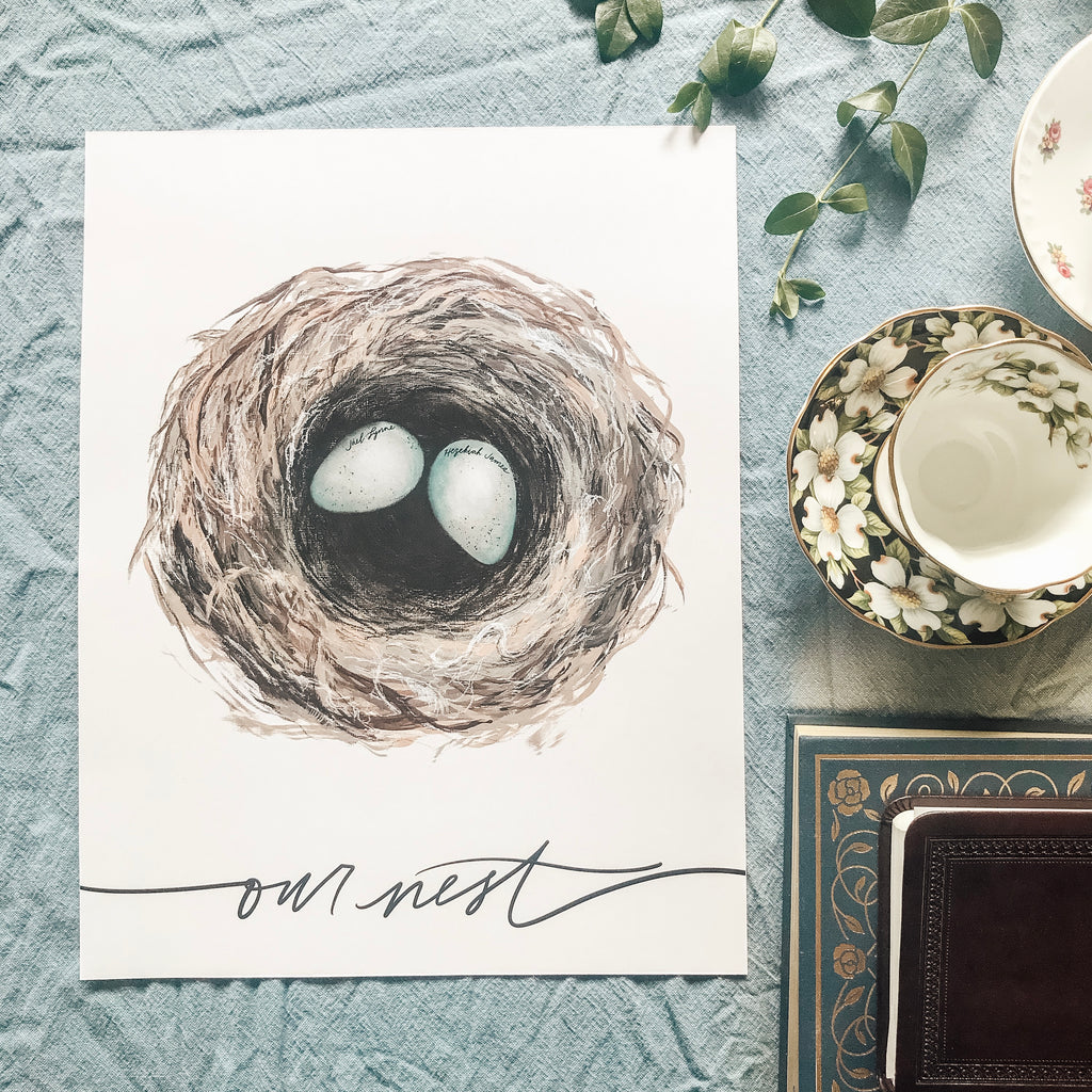 "Acrylic Print ""Our Nest"" - Customizable!"