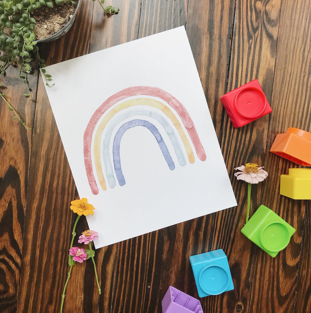 Classic Watercolor Rainbow