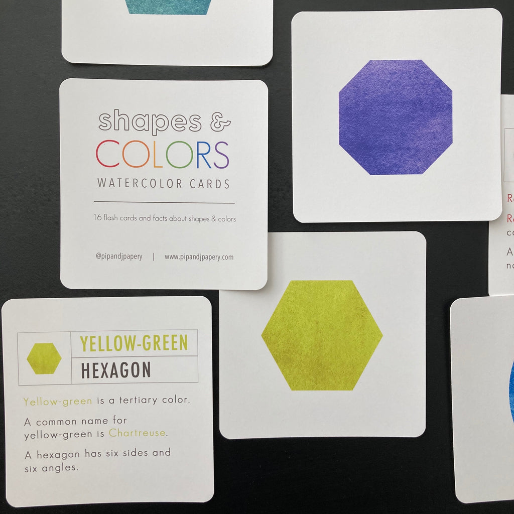 Shapes & Colors Watercolor Cards