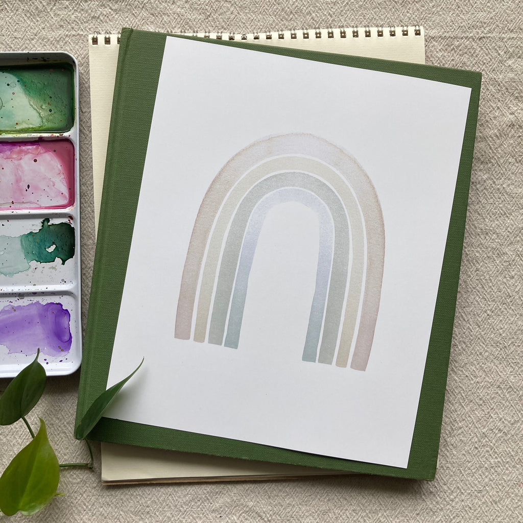 Neutral Watercolor Rainbow