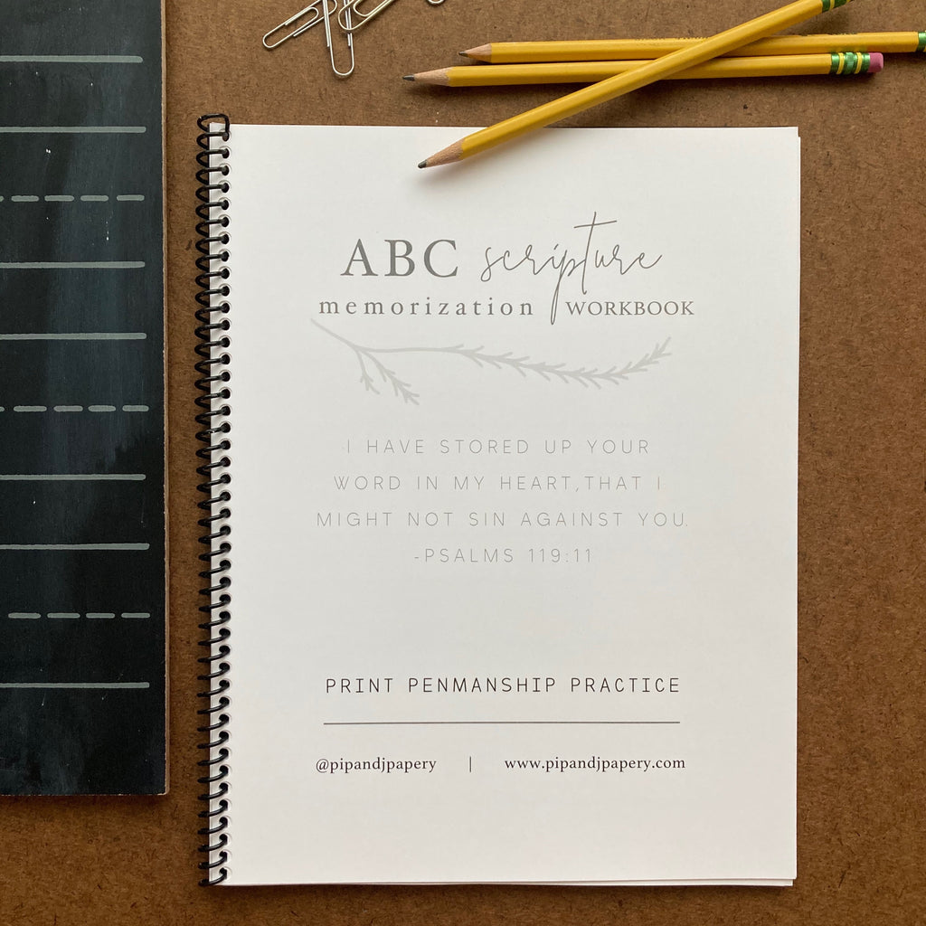 ABC Scripture Memorization Workbook