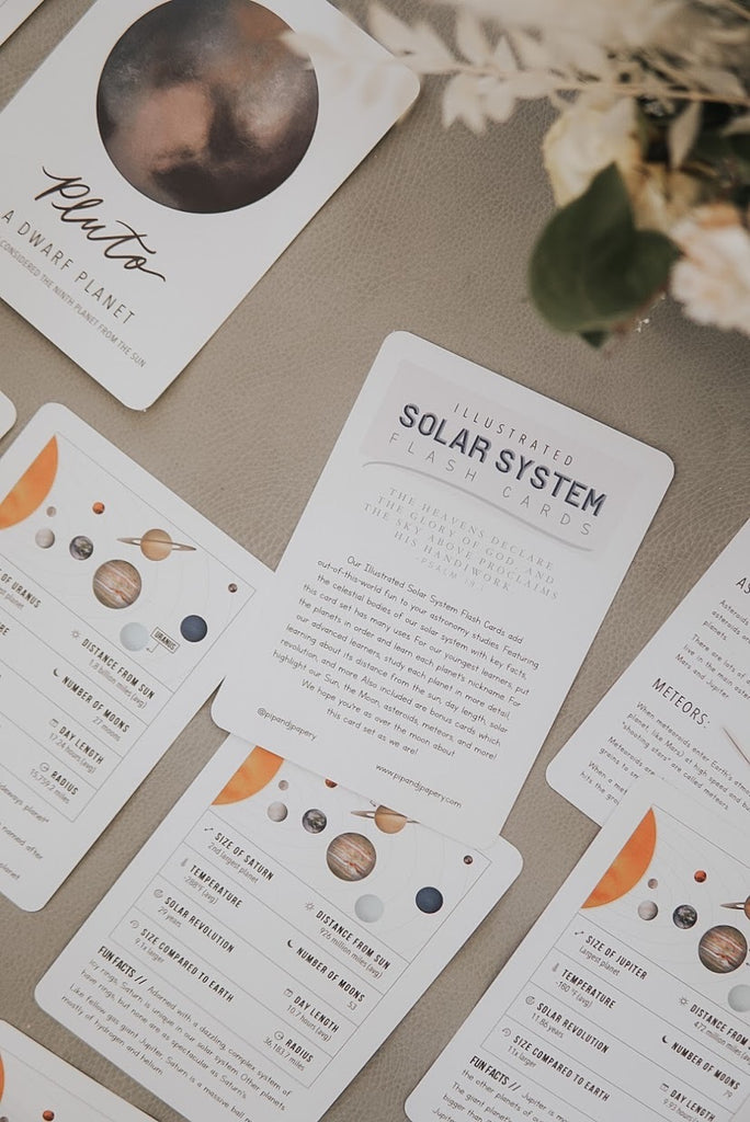 Illustrated Solar System Flash Cards