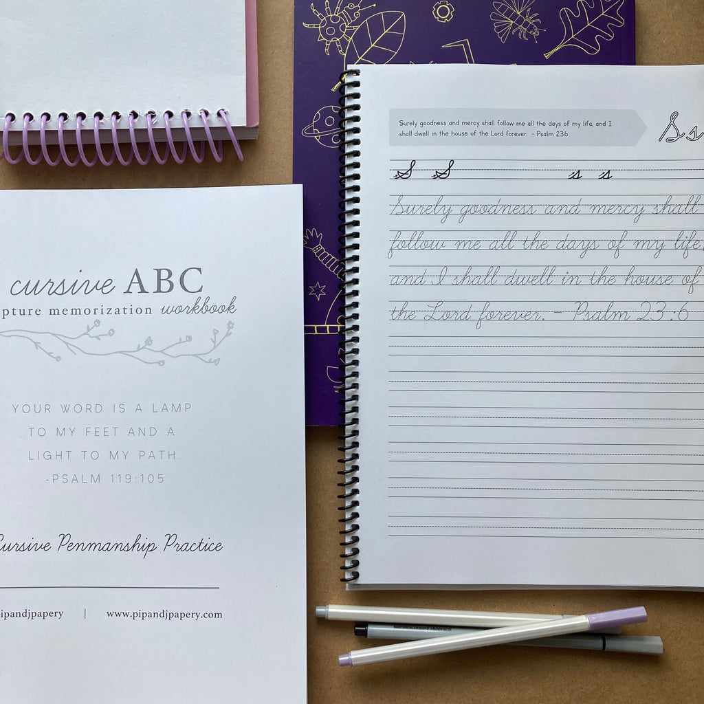 Cursive ABC Scripture Memorization Workbook