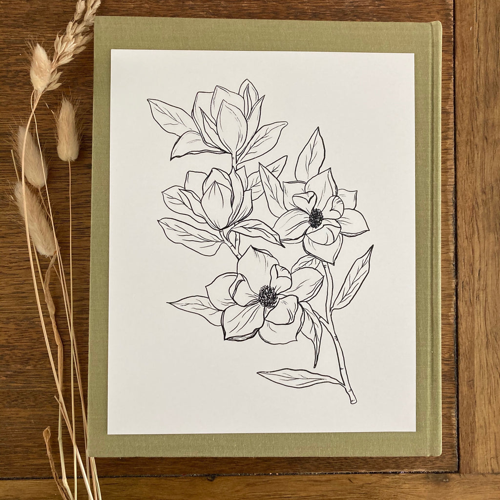 Botanical Ink Drawing