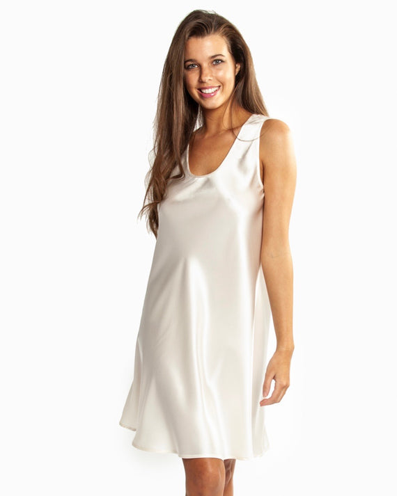 Love&Lustre - Mono Silk Nightdress - Ivory