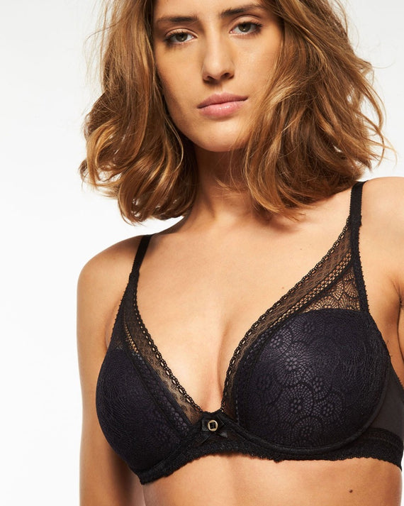 Chantelle - Festivite Plunging T-Shirt Bra - Black