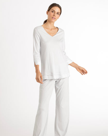 Hanro - Lamia 3/4 Sleeve Pyjama Set - Fresh Air