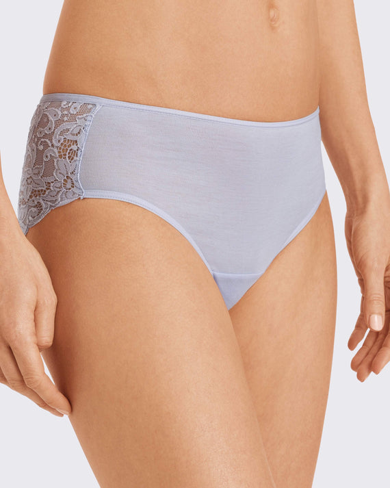 Hanro - Moments Midi Brief - Lavender Frost