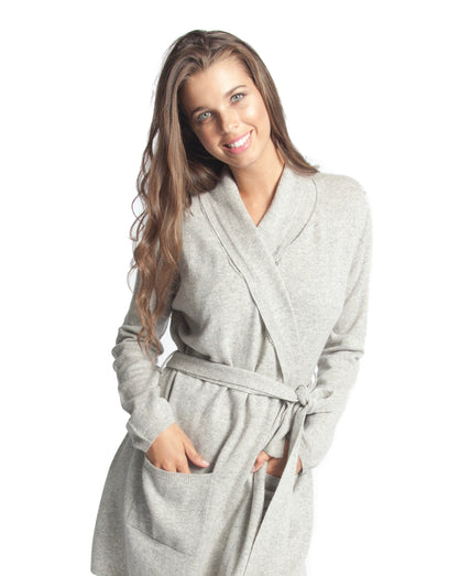 Love&Lustre -  Cashmere Robe - Grey Marle