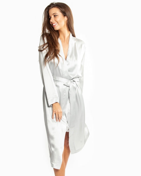 Love&Lustre - Silk Robe - Birch