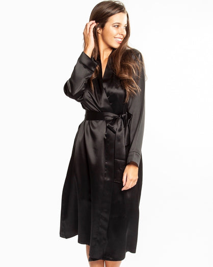 Love&Lustre - Silk Robe - Black