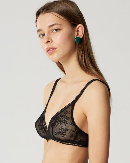 Miss Lejaby - Wire Free Triangle Bra - Black