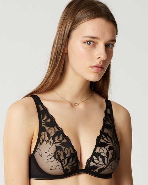 Maison Lejaby - Sin Full Cup Triangle Bra - Black