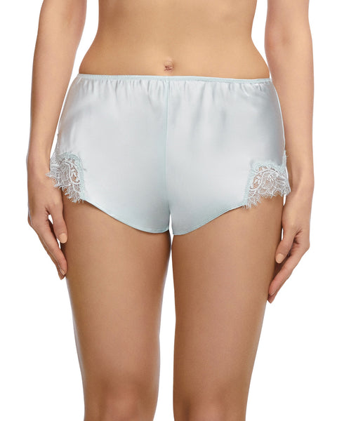 Sainted Sisters - Scarlett Silk French Knicker - Oyster Blue