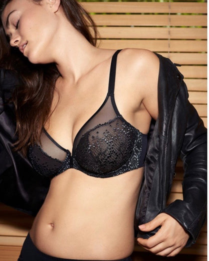 Prima Donna Twist - 1919 Deep Plunge Balcony Bra - Black