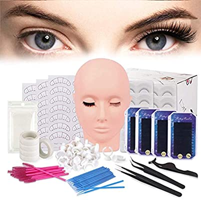 14/16Pcs Set Eyelash Extension Practice Exercise Kit