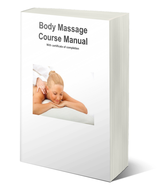 Body Massage Training Manual w/ Certificate of Completion