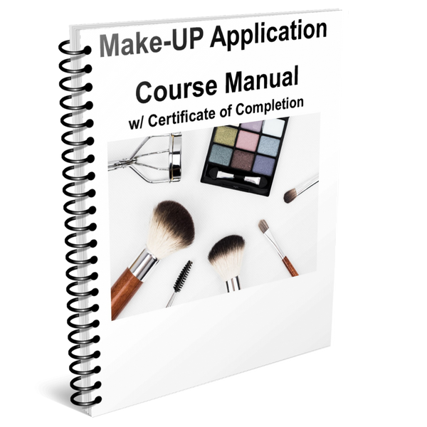 Make-UP Application  Course Manual w/ Certificate of Completion