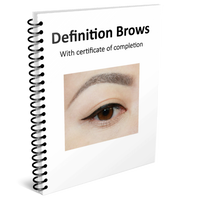 Definition Brows Training Manual w/ certificate of completion