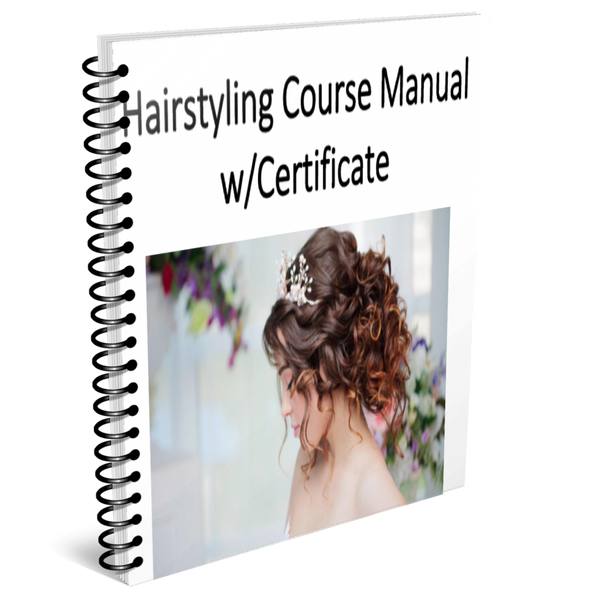 Hairstyling Training Manual w/ certificate of completion