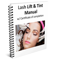Lash Lift & Tint Manual w/ Certificate of completion
