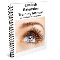 Eyelash Extension Training Manual w/ certificate of completion
