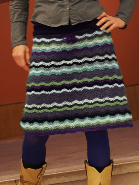 Shift Casual Knitted Ombre/tie-Dye Skirts