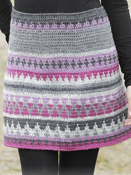 Purple Casual Knitted Skirts