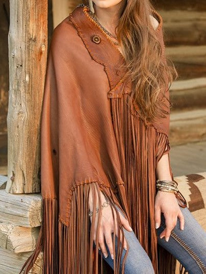 Boho Tassel Cover Up Poncho