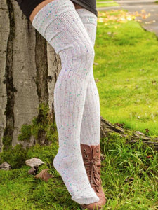 Light Gray Knitted Casual Women Underwear & Socks