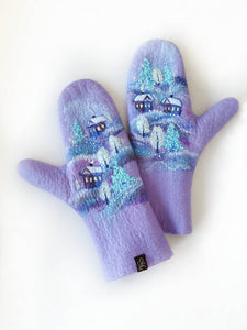 Purple Casual Gloves & Mittens