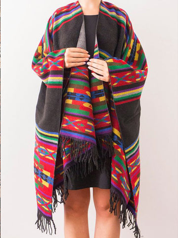 Multicolor Sweet Unisex Tribal Cotton Scarves & Shawls