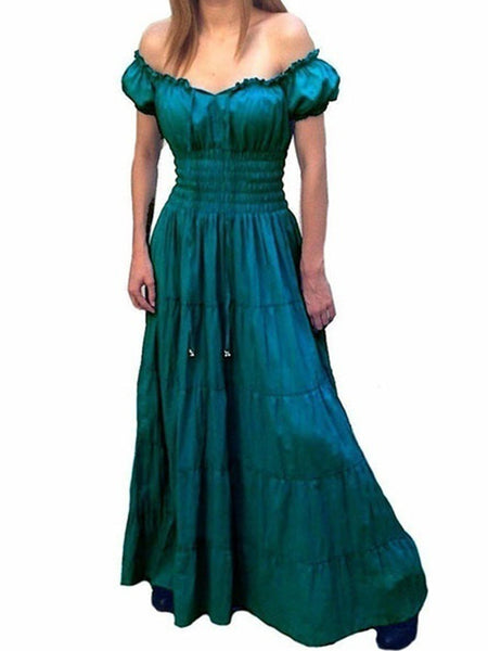 medieval Cotton Off Shoulder Vintage Dresses
