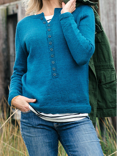 Plain V Neck Sweater