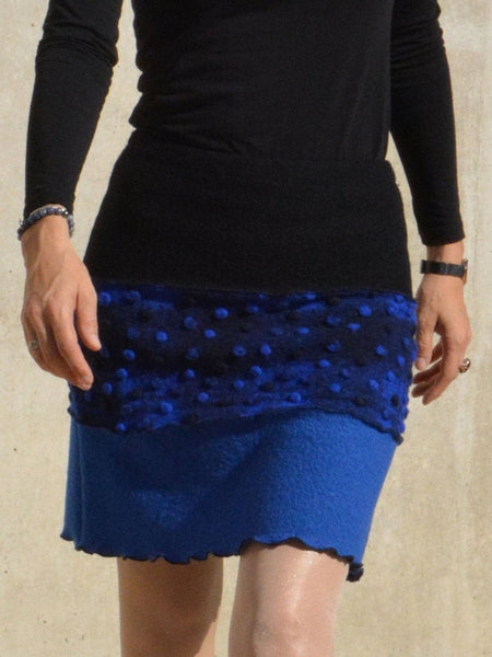 Blue Casual Floral Skirts