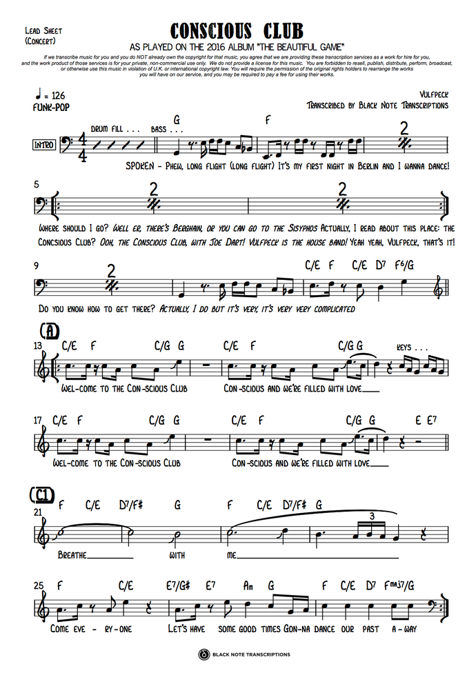 Conscious Club - Concert Lead Sheet (PREVIEW)