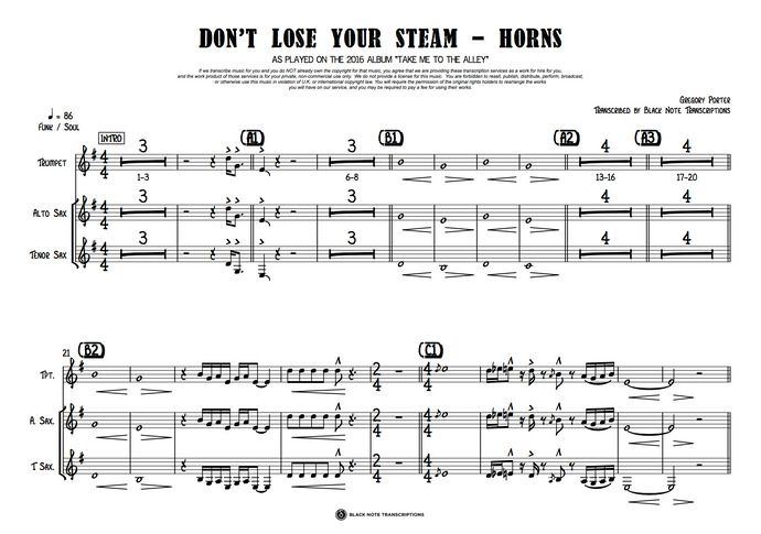 Don't Lose Your Steam - Horns (PREVIEW)