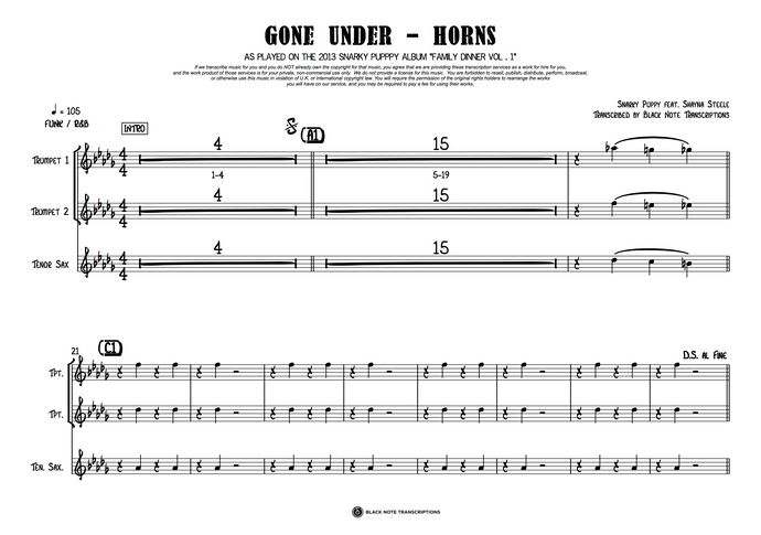 Gone Under - Horns (PREVIEW)