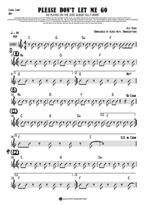 Please Don't Let Me Go - Bb Chord Chart (PREVIEW)