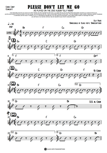 Please Don't Let Me Go - Concert Chord Chart (PREVIEW)