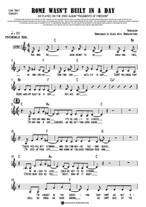 Rome Wasn't Built In A Day - Concert Lead Sheet (PREVIEW)